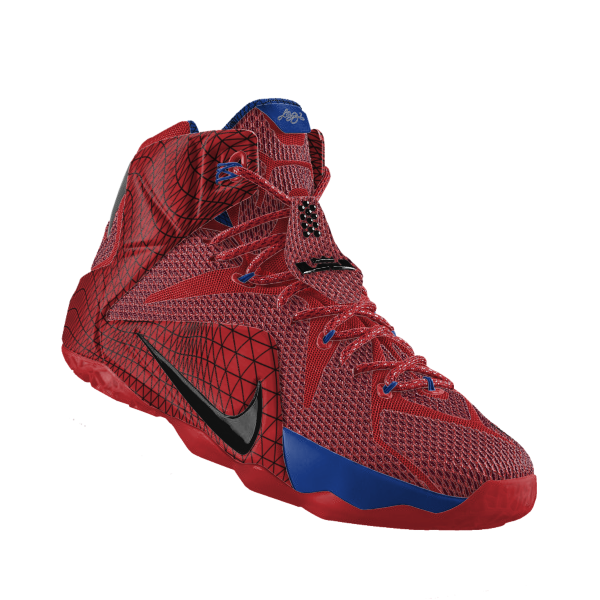 """8d5e5a8272e Nike updated it s options for the Lebron 12 ID today by adding its """"Data""""  print to the shoe. With it you can create all new styles but its familiar  webbing ..."""