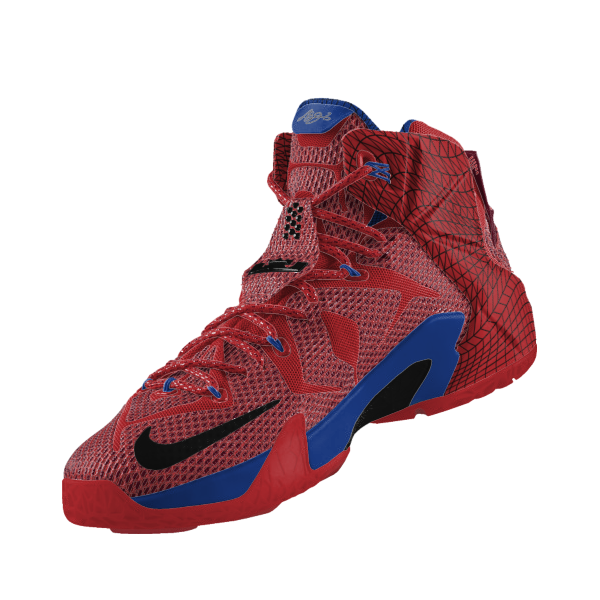 """b755d65084a New Lebron 12 Nike ID """"Data"""" Option Can Make Some Sweet Spider-Man ..."""